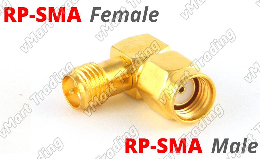 L Connector RP-SMA Male to RP-SMA Female Angle Adapter