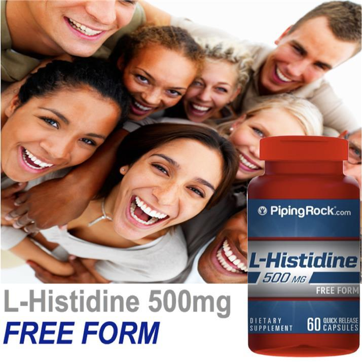 L-Histidine Free Form, 60 Caps 500mg, Immune, Blood, Joint Support