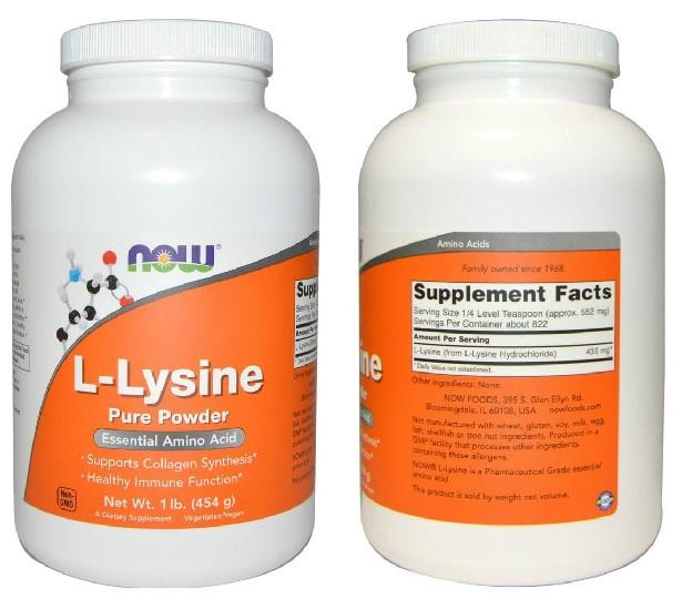 L-Lysine Pure Powder, Pharmaceutical Grade (454 g)
