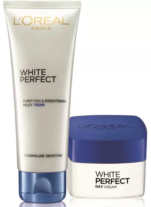 L'Oreal Paris White Perfect Skincare Set #09 (Cleanse & Moisturize, ...
