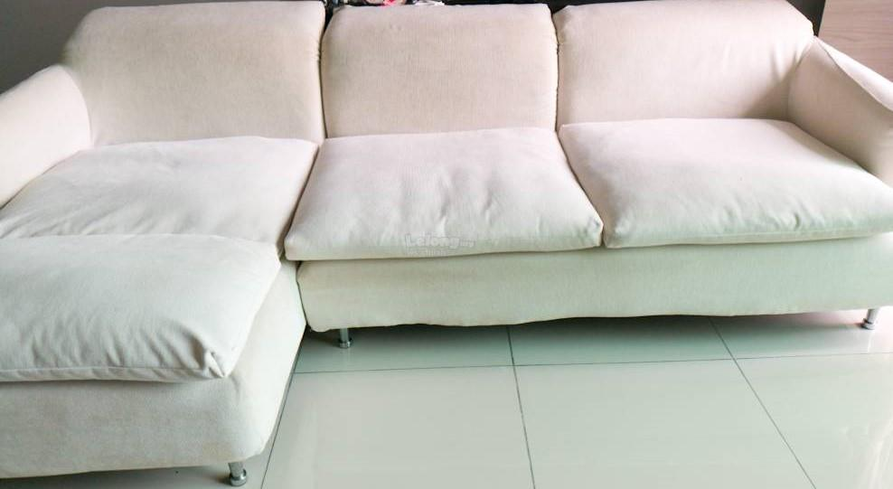 L-Shape Fabric Sofa Set for Sales (end 3/3/2018 9:15 PM)
