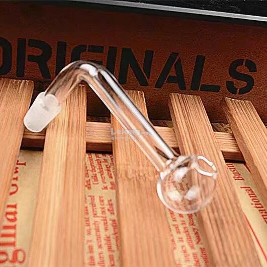 L Shape Glass Water Bowl Pipe