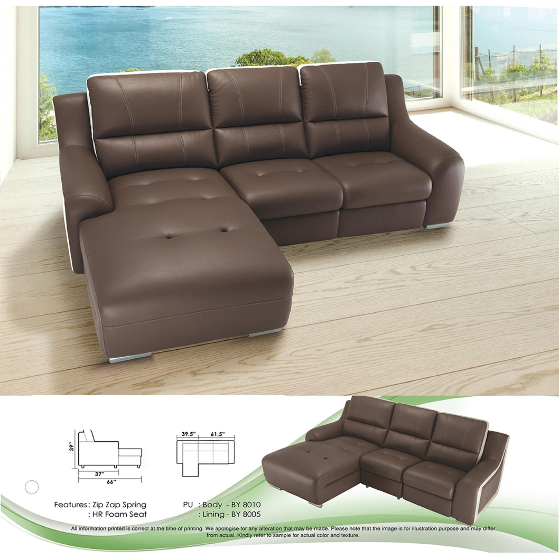 L-Shape Sofa Fully Leather Sofa Relax Chair Lounge Chair Sofa