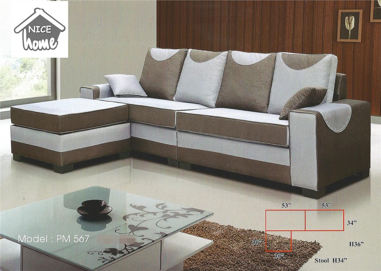 L-shape sofa installment plan payment per-month 567