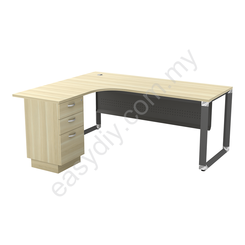 L Shape Table C/W 2Drawer 1Filing OML 1515-3D (L) / OML 1515-3D (R)