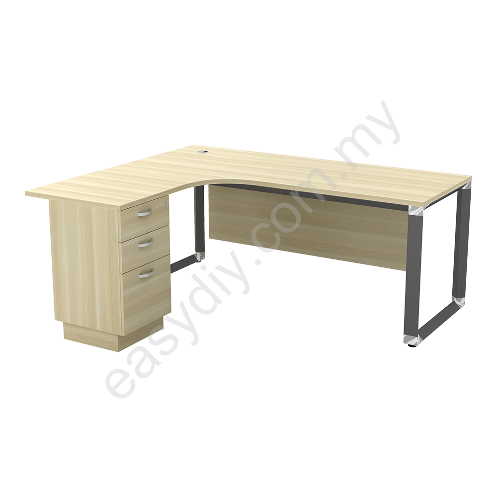 L Shape Table C/W 2Drawer 1Filing OWL 1515-3D (L) / OWL 1515-3D (R)