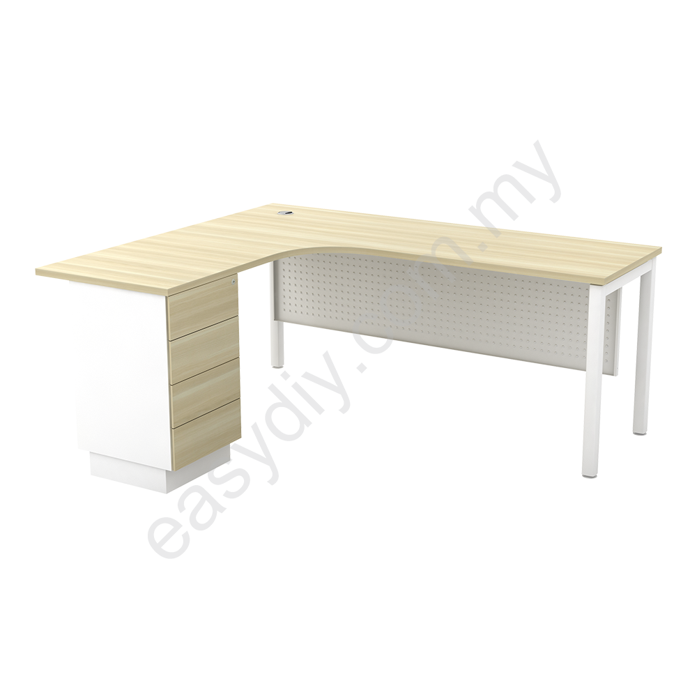 L Shape Table C/W 4Drawer SML 552-4D (L) / SML 552-4D (R)