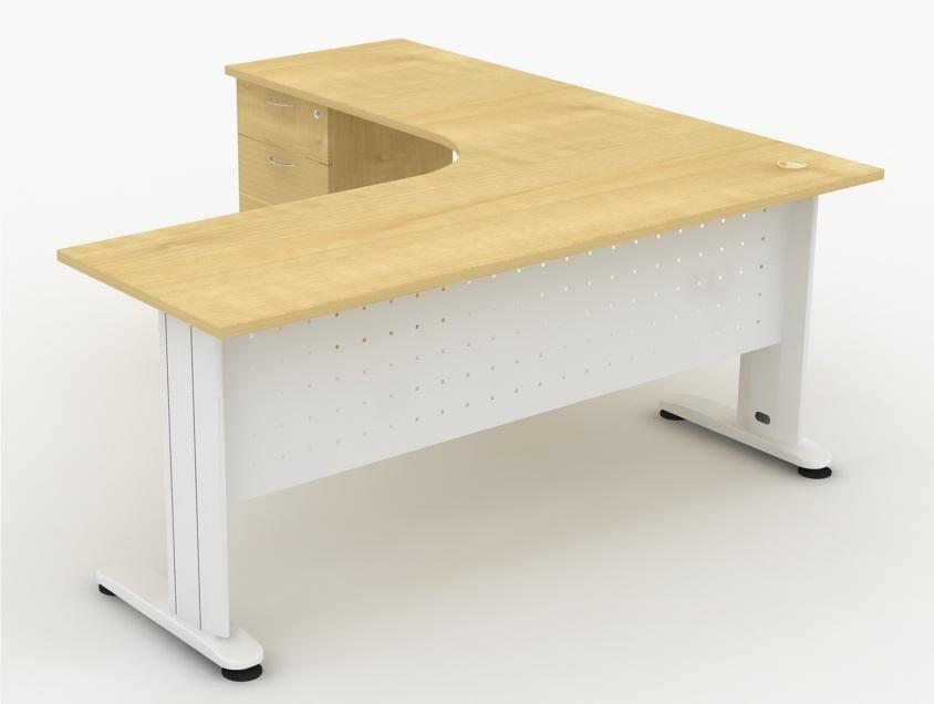 L Shape Writing Table Desk Meja Tulis 1500 X 600