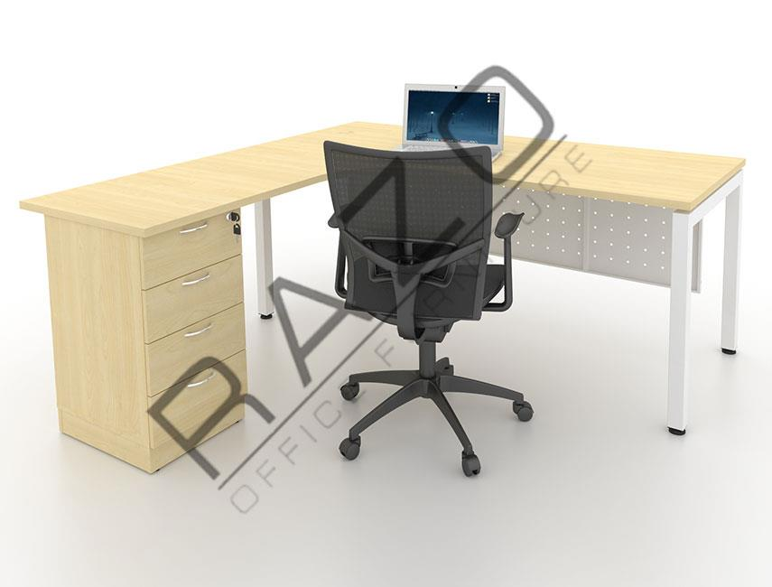 L shape Writing Table | Office Table  | Office Furniture -MUD1815M