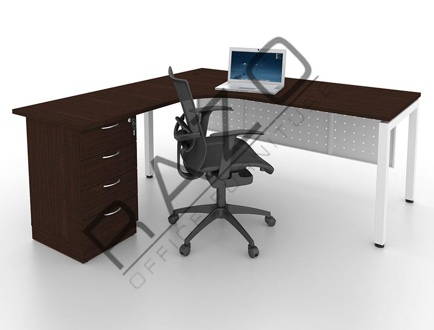 L shape Writing Table | Office Table  | Office Furniture -MUD1815W
