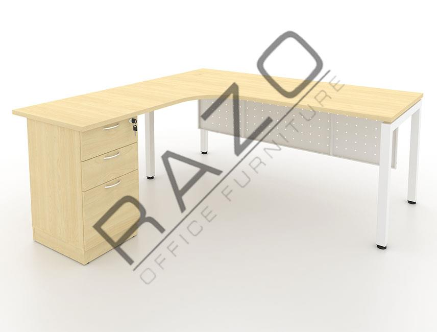 L shape Writing Table | Office Table  | Office Furniture -MUF1515M