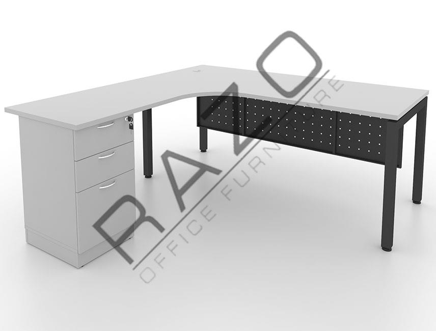 L shape Writing Table | Office Table  | Office Furniture -MUF1815G