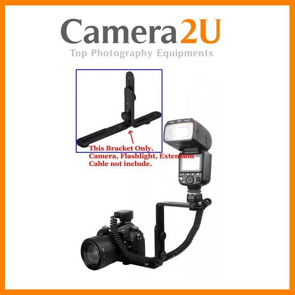 L Shaped Smart Adjustable Flash Light Speedlight Bracket (1 set)