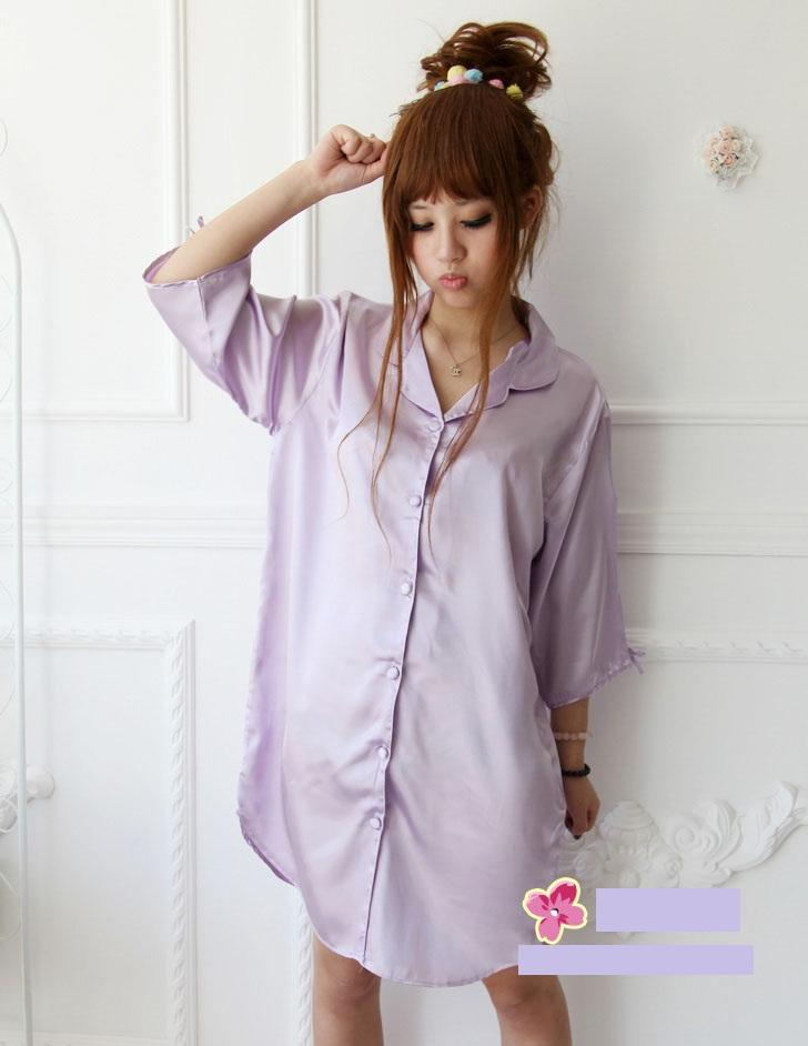 L880 ice silk sleepwear sleeping dress night sleep lady lingerie wear. ‹ › 0f5ac84d1