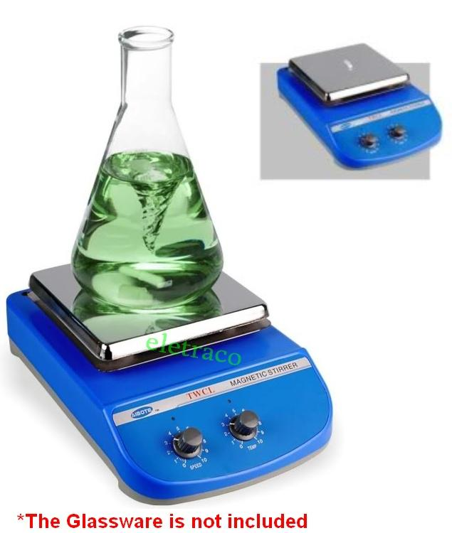 Lab Scientific Square Flat Heating Magnetic Stirrer with Heater