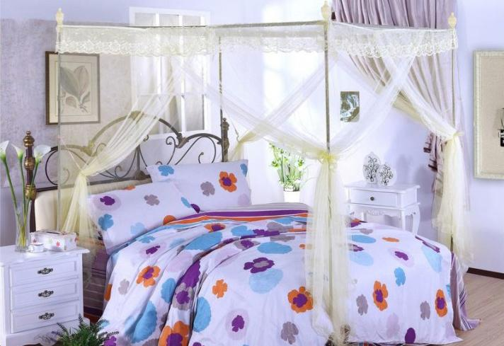Lace Mosquito Net Bed Canopy ( 5Ft )