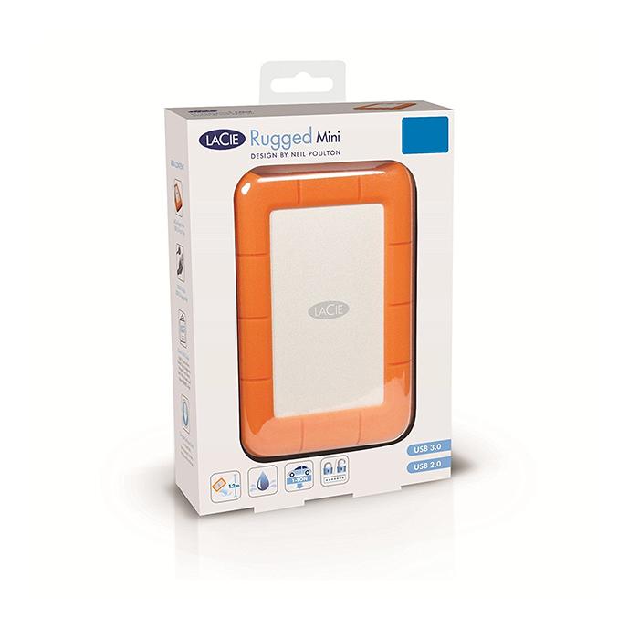 3c30740bc9cb LaCie Rugged Mini 1TB USB 3.0 Portable External Hard Drive (LAC301558)