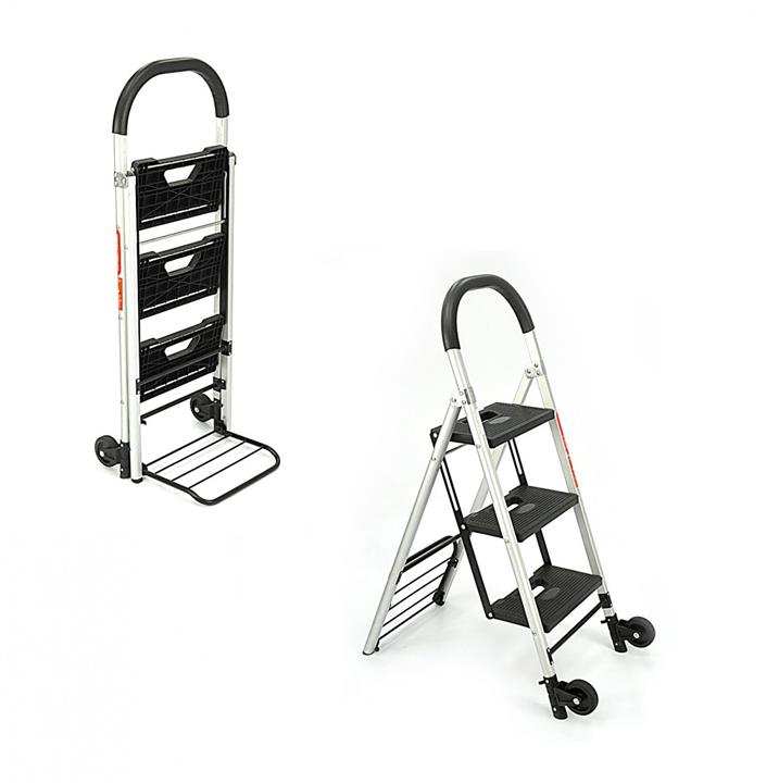 ladder cart convertible hand truck and folding ladder fhc3l - Convertible Hand Truck