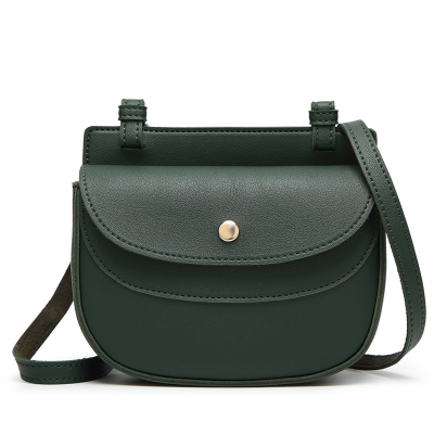 Ladies Classic Cover-Covered Magnetic Buckle Crossbody bag