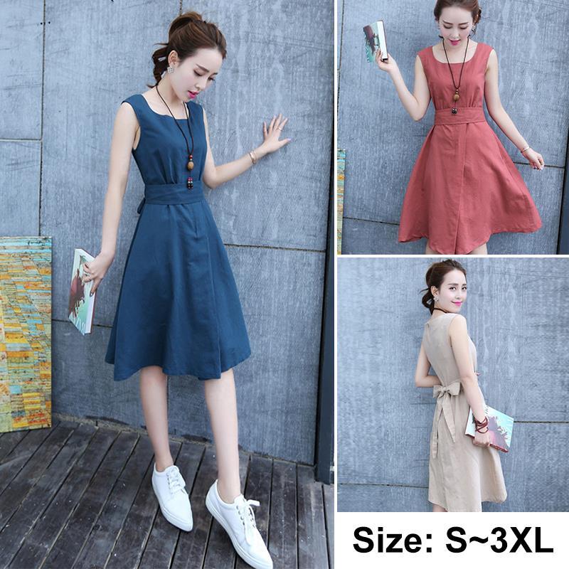 Ladies Korean Style Summer Dress Slee End 5 8 2018 2 15 Pm