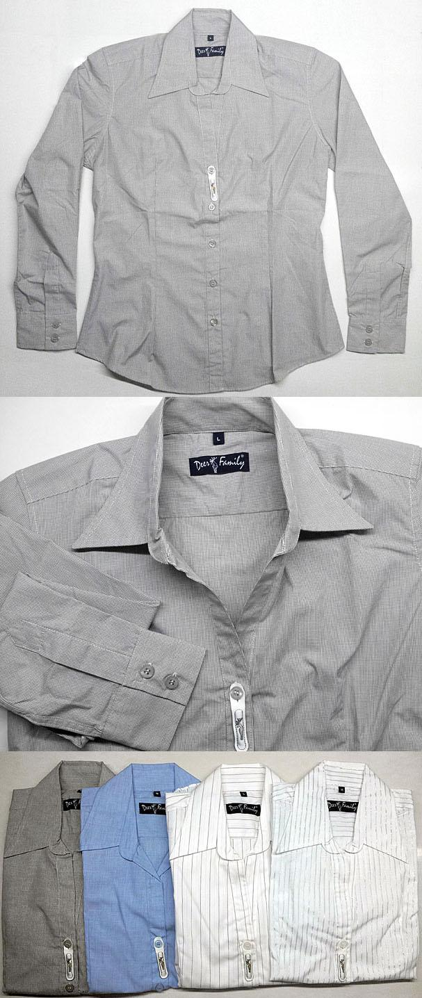LADIES LONG SLEEVE LOW CUT SHIRT BY DEER FAMILY, JAPAN
