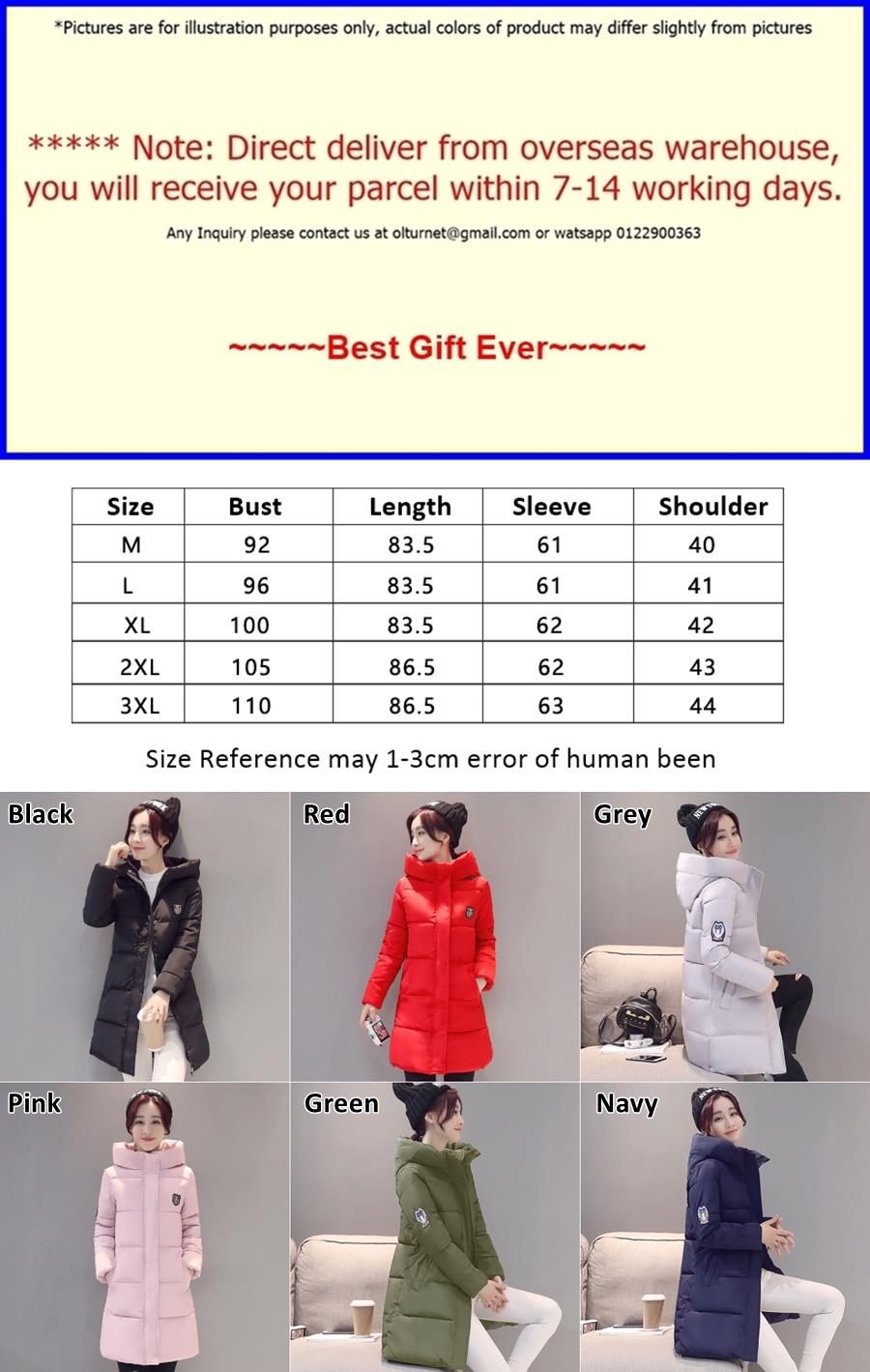Ladies Long Winter Hooded Jackets Women Windbreaker Coat Blazer