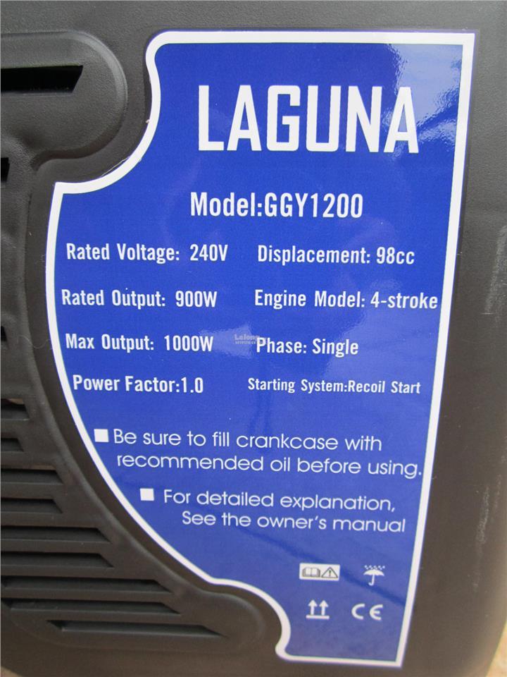 Laguna 1000W Portable 4-Stroke Gasoline Generator