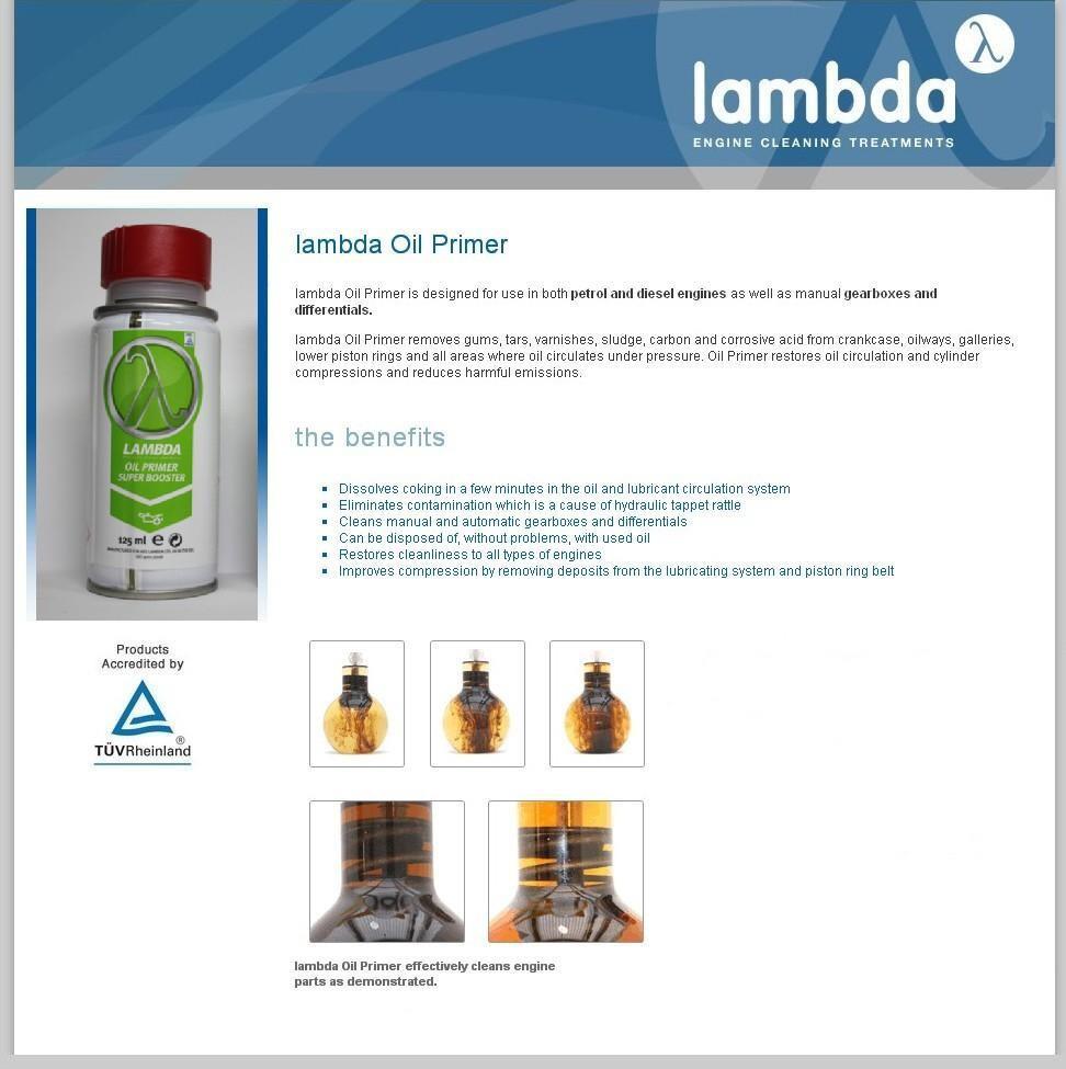 Lambda Petrol & Diesel Engines Cleaning Treatment ' Oil ...
