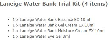 LANEIGE WATERBANK TRIAL KIT SET ORIGINAL