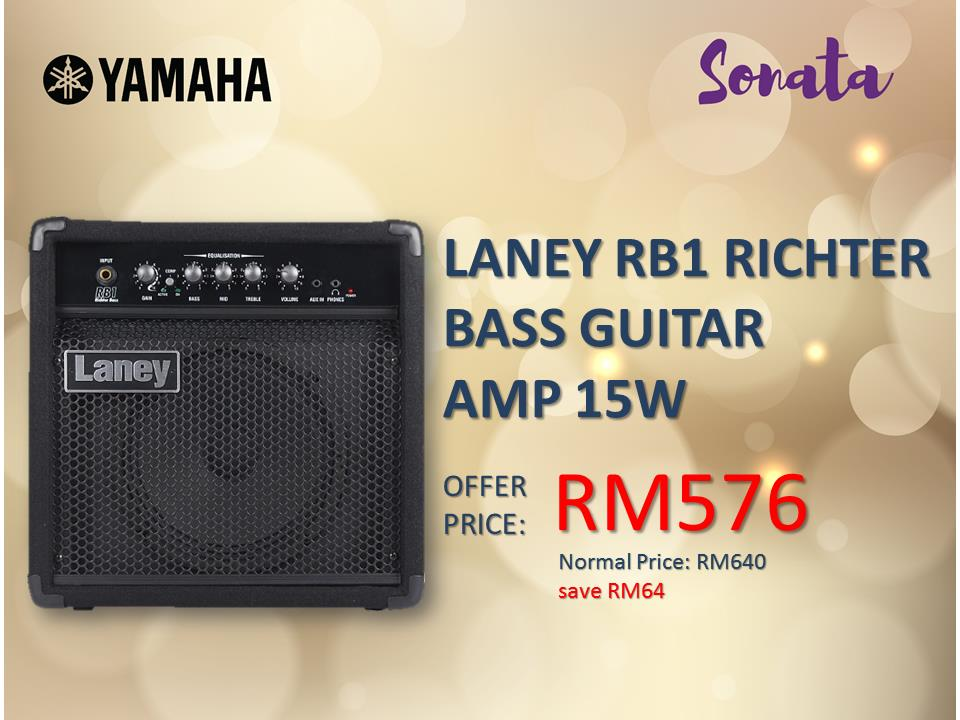 LANEY RB1 RICHTER BASS GUITAR AMP 15W