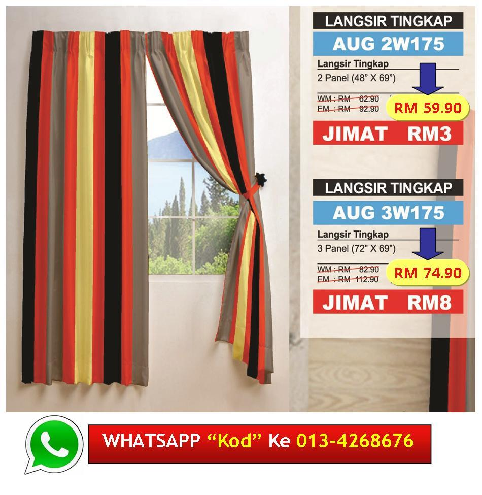 "Langsir Tingkap Siap Jahit ""CHEERFULNESS"" Readymade Curtain"