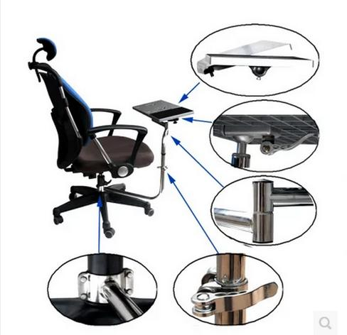 Laptop Desk Rotating Mount Desktop Keyboard Bracket Chair Armrest