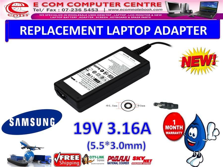 Laptop Power Adapter Charger for Samsung NP-Q430 Q530 NP300E4Z R440 NP