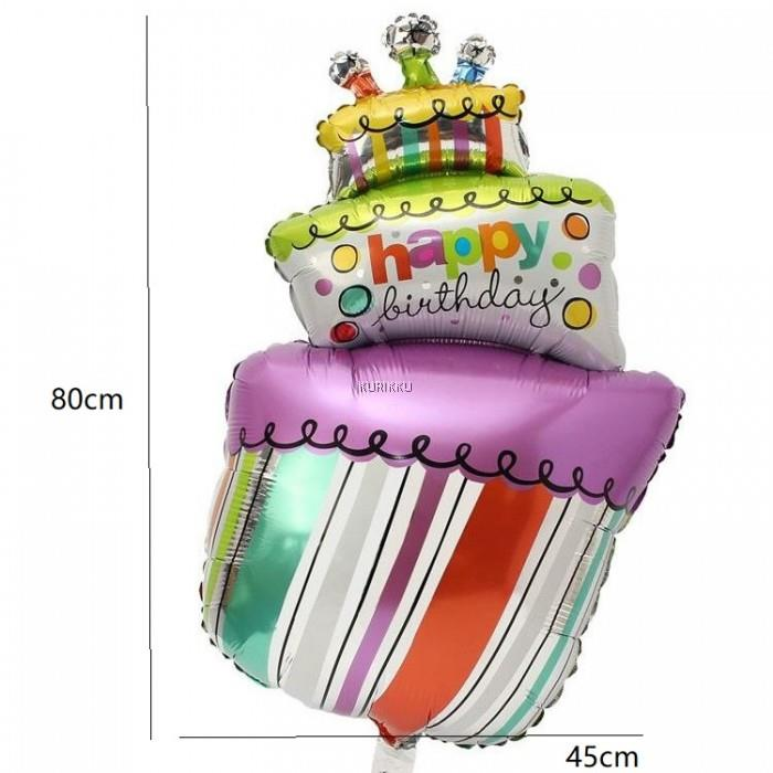 Large Birthday Cake Celebration Instagram Party Foil Balloon