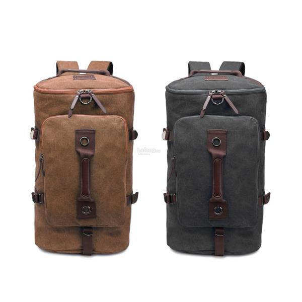 e29513b04 Large Canvas Travel Hiking Camping Laptop Backpack Rucksack. ‹ ›