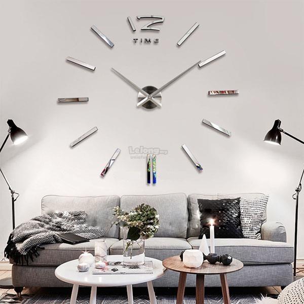 Large Diy Frameless Wall Clock 3d Mir End 8 8 2020 5 15 Pm