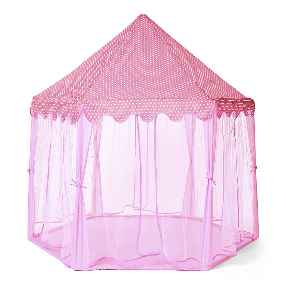 low priced 4e14a 8ca36 Large Princess Play Tent Castle Tulle Children Game House (Pink)