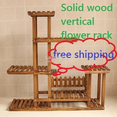 Large Solid Wood Multilayer Flower Rack Garden Diy Pots Shelf