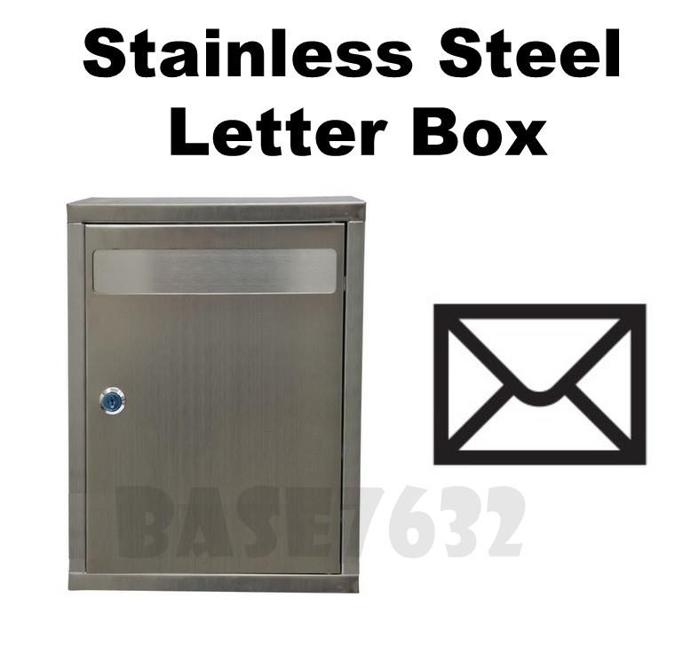 Large Stainless Steel Letter Letters Mail Pos Box Letter Box 1916.1