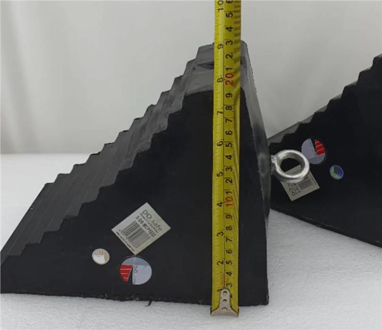 Large Triangle rubber wheel Stop/Block (2 Pcs)