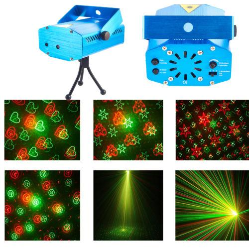 Laser Lighting Projector DJ Disco Light Stage Party Voice Controlled