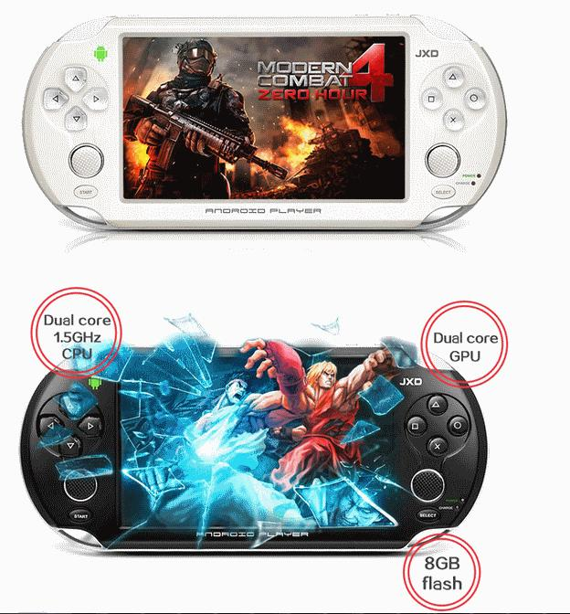 Latest Android PSP JXD S5110 S5110b 5-inch Dual Core 8GB 1GB RAM
