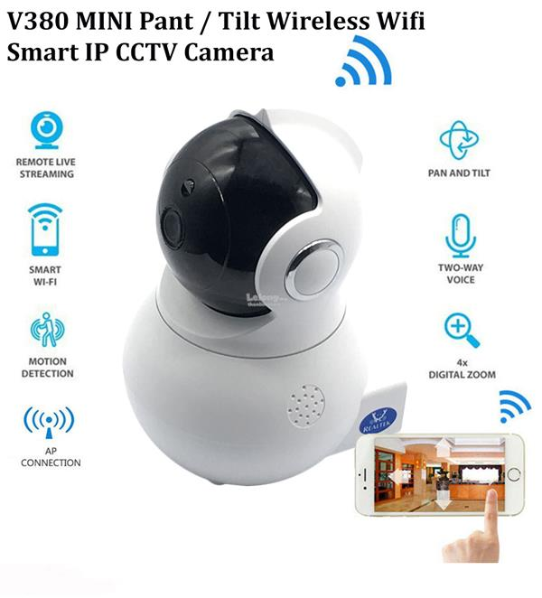Latest Design MINI 1080p Pan / Tilt Wireless Wifi Smart IP CCTV Camera