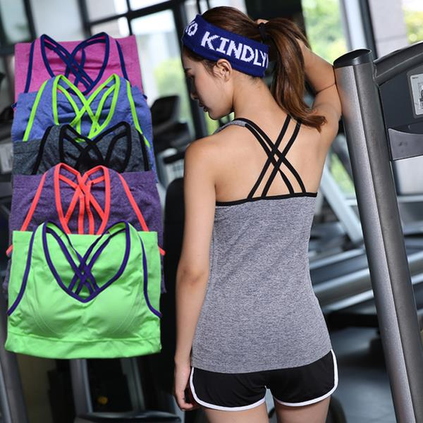 LATEST-FEMALE CAMISOLE BEAUTY BACK SPORTS BRA ( S,M,L,XL)