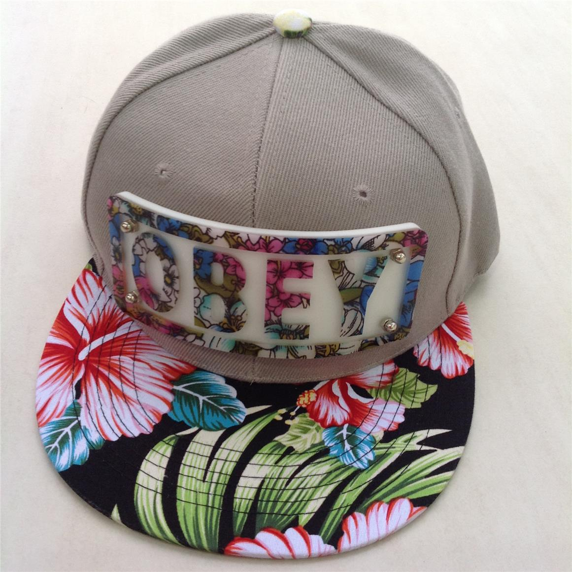 ... closeout latest model obey 2014 snapback hip hop baseball cap grey  flower. u2039 u203a 2f2a7 7d547848cadd