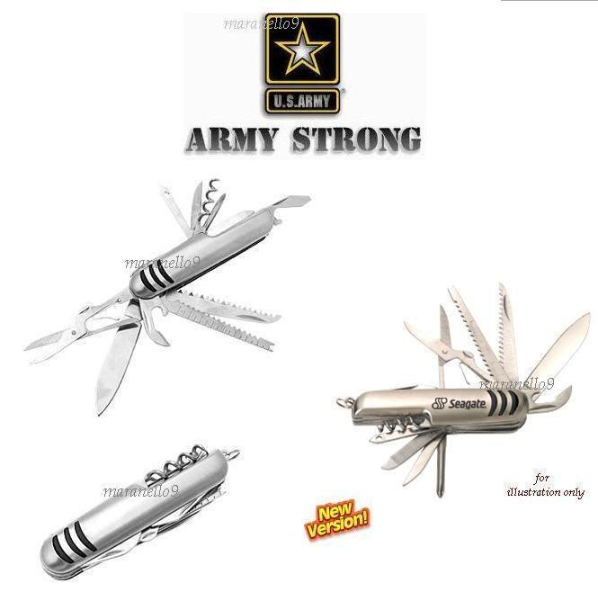 Latest Stainless Steel Multipurpose Army Pocket Knife 13 in 1.Grab!