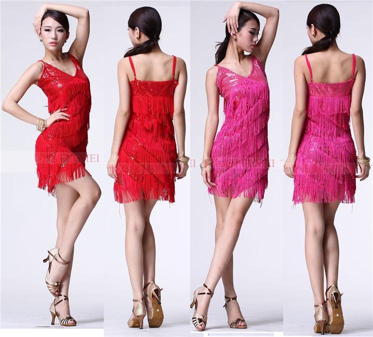 Latin Dance ChaCha Samba Dance Fringing Style Dress FM8471
