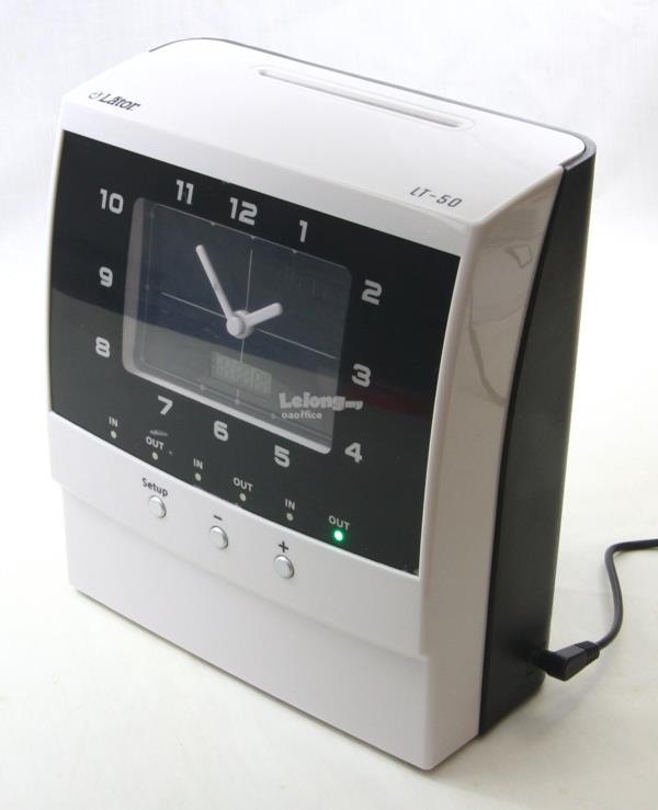 Lator Time Recorder Punch Card Machine Analog Display