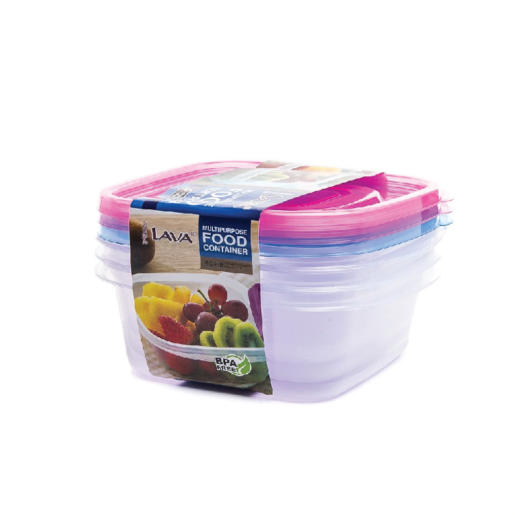 LAVA FC224 610ml Multipurpose Food Container (3 pieces)