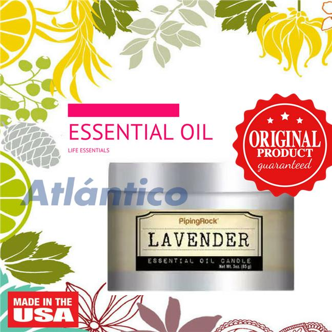 Lavender Essential Oil Candle 85 Candle (Aromatherapy Spa Massage)